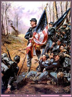 Union Standard Bearer, 3rd U.S. Infantry by artist Don Troiani