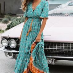 Kianna Bohemian Floral Maxi Dress – The Wild Flower Shop - pinpon.site/fashion - - Kianna Bohemian Floral Maxi Dress – The Wild Flower Shop Source by Maxi Dress Summer, Spring Dresses, Dress Beach, Dress Long, Dress Winter, Dress Formal, Boho Outfits, Fashion Outfits, Bohemian Outfit