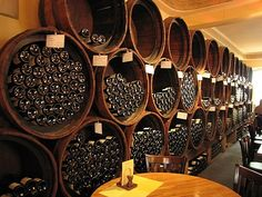 open barrels, wine storage