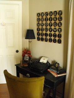 love the old typewriter displayed