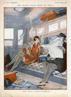 Train Illustration, Art Deco Illustration, Magazine Illustration, Illustrations, Art Deco Posters, Vintage Posters, Vintage Art, Vintage Vanity, Art Quotidien