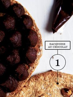 Dacquoise au Chocolat (recipe: Pierre Hermé) Irresistible! Dacquoise, Chocolat Recipe, Lime Cream, Desserts, Recipes, Food, Tailgate Desserts, Deserts, Essen