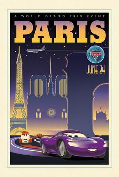 Pixar Cars 2: Holley Shiftwell in Paris by Eric Tan