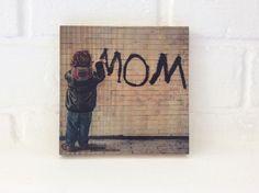 Quadro foto em madeira - Mom