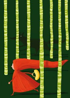 I love any Red Riding Hood works of art. Growing up, it was my favourite tale narrated by mum before bed :)