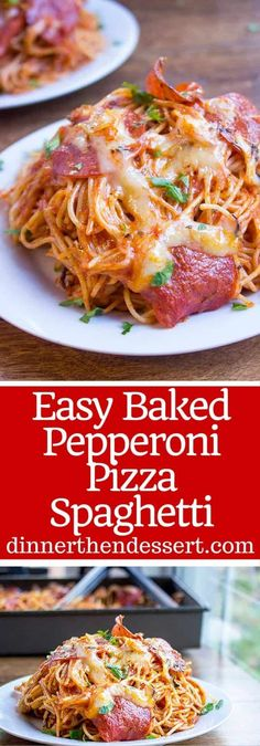 Business Cookware Ought To Be Sturdy And Sensible A Mix Of Pepperoni Pizza And Cheesy Marinara Pasta, This Easy Baked Pepperoni Pizza Spaghetti Is A Fun Alternative To Pizza Night And Perfect For A Crowd Pizza Spaghetti Casserole, Spaghetti Dinner, Pizza Casserole, Casserole Recipes, Pizza Pasta Bake, Baked Spagetti, Spagetti Recipe, Recipe For Baked Spaghetti, Baked Pasta Recipes
