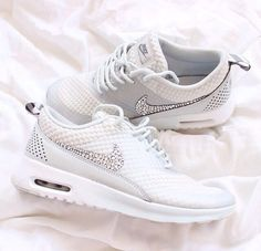 Crystal White Nike Free with Swarovski crystals like im in love totally in love with these