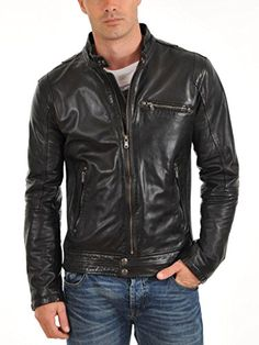 Standard Leather Mens Motorcycle leather jacket - Small Standard Leather http://www.amazon.com/dp/B010NR4IIY/ref=cm_sw_r_pi_dp_25Wpwb03T5W6E