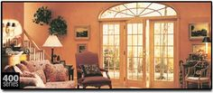 Andersen French Doors - FAS Windows and Doors Anderson Doors, Glass French Doors, Windows And Doors, Home Remodeling, Stained Glass, Exterior, Curtains, House, Bing Images