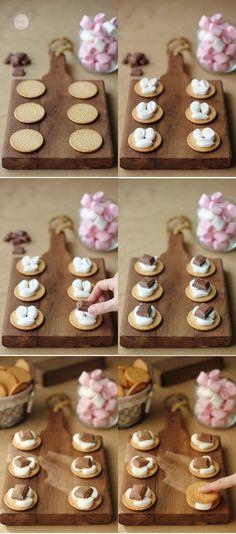 Galletas con malvaviscos y chocolate: