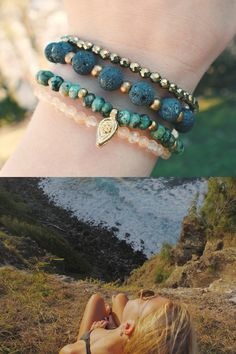 Lavishly Layered Bracelets Inspired by Island Living. Shop Our Beachy, Gemstone Bohemian Bracelet Sets Designed for Everyday Wear. Bohemian Bracelets, Gemstone Bracelets, Gemstone Beads, Bracelet Display, Bracelet Set, Wire Jewelry, Jewlery, Gymnastics Outfits, Layered Bracelets