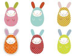 Conejos de pascua de papel para hacer con niños - Manualidades fáciles - Manualidades para niños - Charhadas.com
