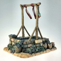 Fontanini, Nativity, 5, Wine Press, Building.  Designed to scale for Fonatini 5 Nativity Figurines, the buildings set the stage for most striking of Christmas Villages. Condition is Excellent. Comes with Original Manufacturers Packaging.  Please See Photos to Fully Appreciate.  A Lovely addition to Any Nativity or Fontanini Collection.