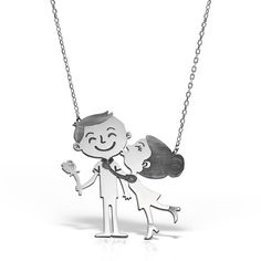 Colier argint fara pietre 52 cm Cuplu Indragostiti  - MCN0050 Snoopy, Silver, Fictional Characters, Jewelry, Jewlery, Jewerly, Schmuck, Jewels, Jewelery