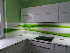 Grafosklo - obklad za kuchyňskou linku Kitchen Cabinets, Abh, Kitchen Ideas, Design, Home Decor, Decoration Home, Room Decor, Cabinets