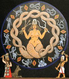 Tiamat: Babylonian goddess of the Deep Oceans.
