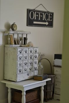 "Love the office decor. ""Faded Charm: Where Bloggers Create 2012"""