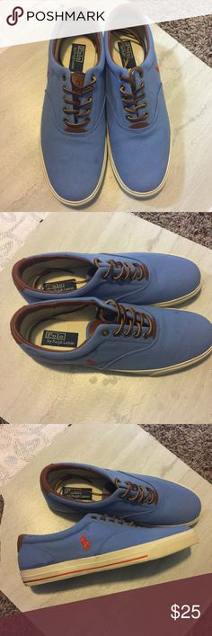 Polo Ralph Lauren shoes size 13 Blue Good condition. Some blemishes on the toe area of the shoe. Polo by Ralph Lauren Shoes Loafers & Slip-Ons