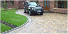 New Block Paving driveway using Marshalls Drivesett Duo block paving in Culcheth