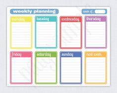 FREE Printable Weekly Planner | via PaigeSimple.com #paigesimple #freeprintable #weeklyplanner