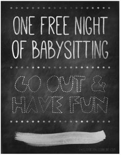 Free downloadable babysitting coupon might start giving these to one free night of babysitting printable yadclub Image collections
