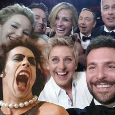 selfie from the Oscars....lol
