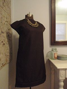 easy sewing for a tunic dress