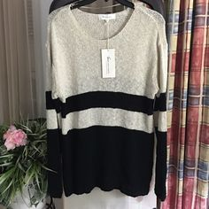 Vince Camuto Sweater NWT.  Oversized look! Rounded neckline and cute with leggings or jeans! ✨ ALWAYS willing to accept or negotiate with reasonable offers✨ Vince Camuto Sweaters