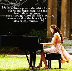 The last song, normally I'm not a person for that kind of movie, but this movie, and this quote touched me