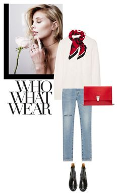 """Who, What, Wear"" by easewithabigail ❤ liked on Polyvore featuring Yves Saint Laurent, rag & bone, L'Autre Chose, Who What Wear and Proenza Schouler"