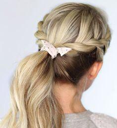 Side Braid Ponytail  summer hairstyles