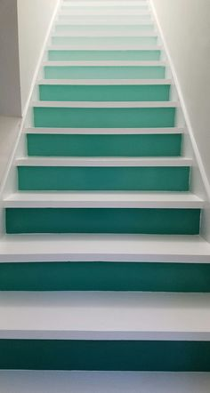 Gradient-painted stairs