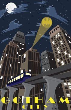 Vintage Gotham City