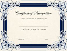 Free printable certificate of recognition google search certificate template designs recognition docs yadclub Choice Image
