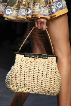 Handbag in rafia Dolce & Gabbana