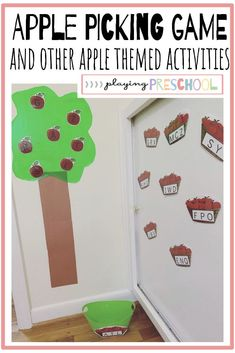 Use this fun apple alphabet game and 14 other alphabet activities this Fall with your preschool or kindergarten children. Fun learning games working on so many skills such as writing, sight words, math and more! Fall Preschool Activities, Preschool Programs, Preschool Centers, Preschool Alphabet, Preschool At Home, Alphabet Activities, Classroom Activities, Apple Life Cycle, Fun Learning Games