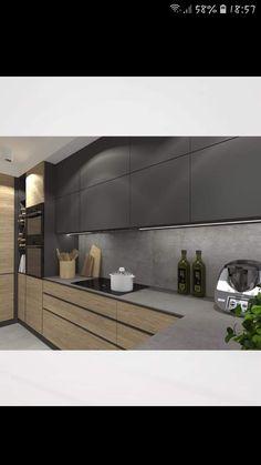 Kitchen Room Design, Home Room Design, Kitchen Cabinet Design, Kitchen Cabinetry, Modern Kitchen Design, Home Decor Kitchen, House Design, Modern Kitchen Interiors, Cuisines Design