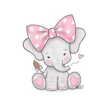 Resultado de imagen para clipart watercolor baby elephant