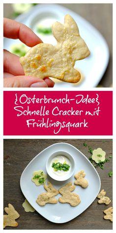 Sind diese Hasen-Cracker nicht niedlich? Die Cracker sind in 15 Minuten gezaubert. Zusammen mit einem leckeren Frühlingsquark sind sie perfekt für das nächste Brunch mit Familie oder Freunden.