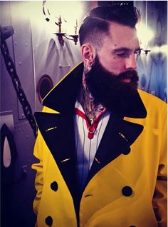 Had a cracking time at the and Party on Saturday. Their new clobber is top shelf! Bearded Tattooed Men, Bearded Men, Hipster Fashion, Unisex Fashion, Men Fashion, Growing A Full Beard, Ricki Hall, G Hair, Hipster Beard