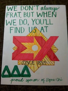 Dos Equis themed Derby Days poster for Sigma Chi's Philanthropy Week #TriDelta #Greek