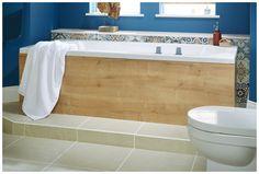Bath side and end panels in eton oak Fitted Bathroom Furniture, Bath Shower Screens, Bath Panel, Oak Panels, Uk Brands, Family Bathroom, Modular Furniture, Baths, Bathrooms