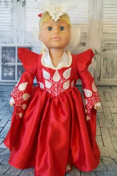 American Girl Doll Clothes - Mirror Mirror Inspired - 18 inch Doll Costume - Doll Accessories via Etsy
