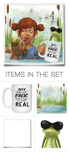 """""""Catching Frogs"""" by riri-thatsme ❤ liked on Polyvore featuring art"""