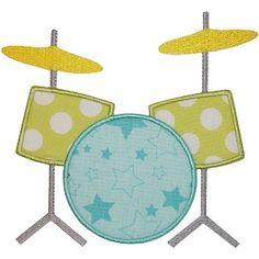 Drum Roll - Planet Applique Inc Drum Patterns, Applique Patterns, Applique Designs, Embroidery Applique, Quilting Designs, Machine Embroidery Designs, Quilt Patterns, Embroidery Machines, Quilting Ideas