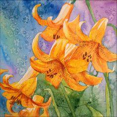 Lilies ArtPrint of my original watercolor painting by Esperoart