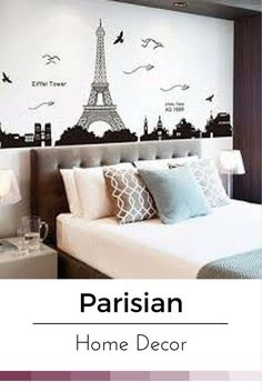 Paris home d�cor is cute, trendy and adorable.  In fact, it is perfect for anyone who has or wants to visit Pairs.  Paris themed home d�cor is really trendy and popular all over the world.  For this reason, I really love Paris wall art, Eiffel Tower beddi