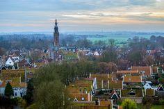 Vistas del pueblo de Edam desde las alturas del Grote Kerk – Edam y Volendam