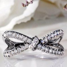 ♡Heart Diamond Ring♡///Love this for a wedding band///2 hearts joined as one///www.annmeyersignatureevents.com