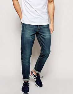 Get this Asos's slim jeans now! Click for more details. Worldwide shipping. ASOS Slim Jeans With Vintage Wash - Blue: Slim jeans by ASOS, Non-stretch denim, Vintage wash, Button fly, Five pocket styling, Slim fit - cut closely to the body, Machine wash, 100% Cotton, Our model wears a 32/81 cm regular and is 185.5cm/6'1 tall. Designed in-house in our London studio by our dedicated menswear team, ASOS offer a range of men�s clothing designed and created exclusively for ASOS. (vaquero slim…